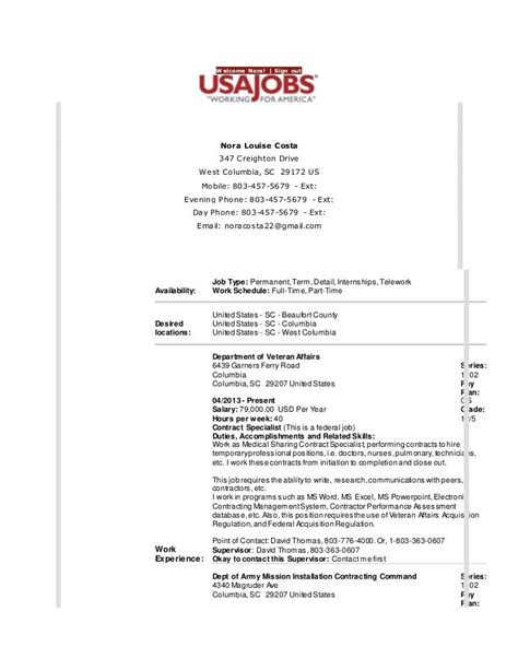 Resume Maker Usa Resume Builder Usajobs