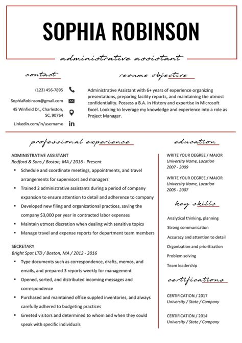 resume objective virtual assistant create a job winning virtual assistant resume website