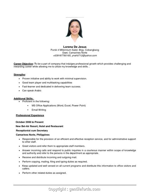 resume objective in sales resume objective examples simple resume