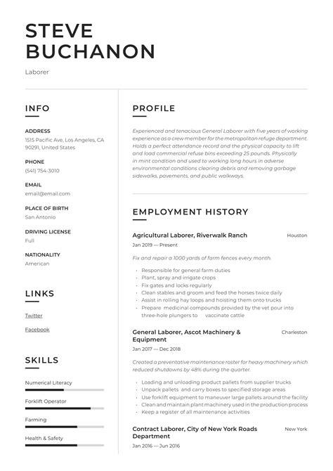 general laborer resumegeneral labor production contemporary 5jpg