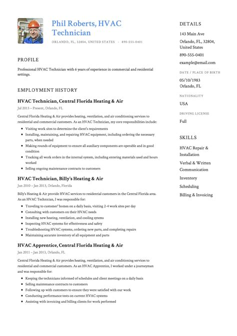 resume objective hvac hvac resume sample resume my career