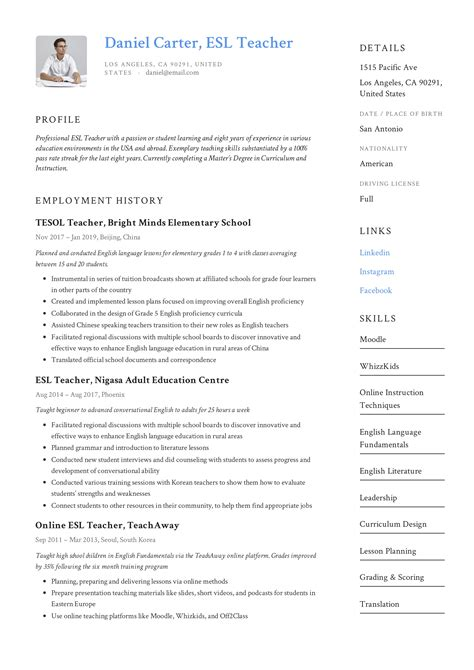 resume for english tutor ideas collection sample resume for