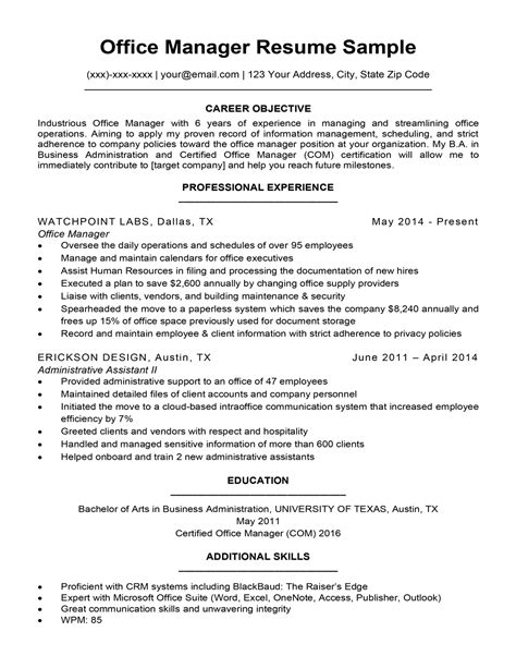 resume objectives leasing manager manager resume best sample resume