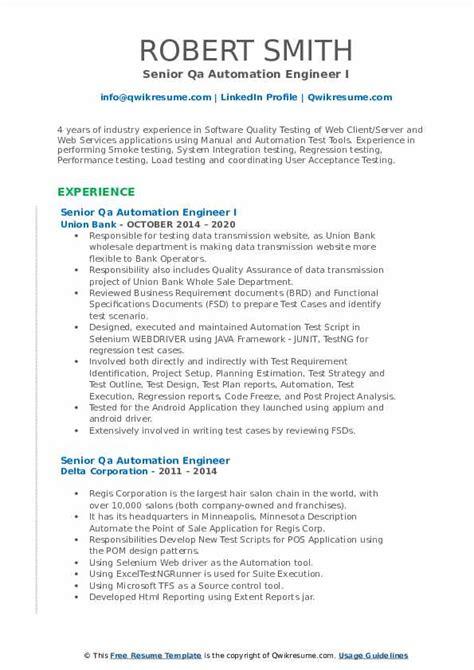 resume of senior qa engineer senior qa automation engineer resume in jersey city nj - Senior Qa Engineer Sample Resume