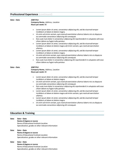 resume outline doc federal resume sample and format the resume place - Resume Place