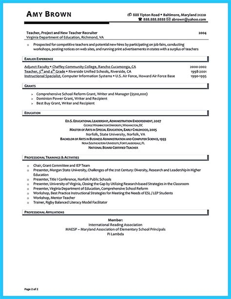 resume principal position resume sample without experience