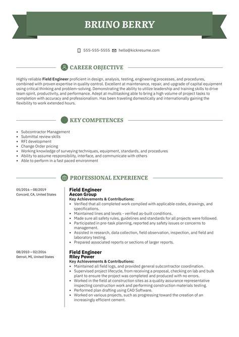 resume sample of mechanical field engineer field engineer resume samples jobhero - Mechanical Field Engineer Sample Resume