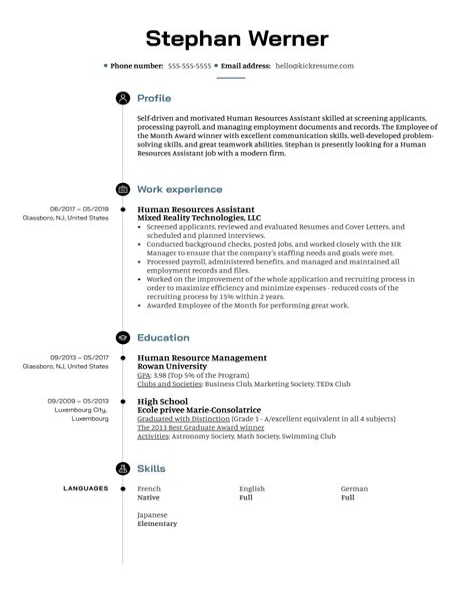 resume sample entry level hr assistant human resource assistant resume best sample resume