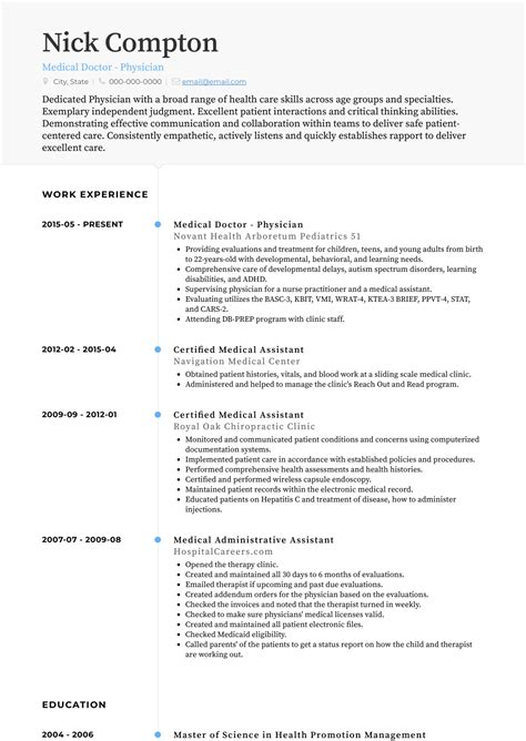 Resume Sample Format In Malaysia Medical Doctor Resume Example Sample