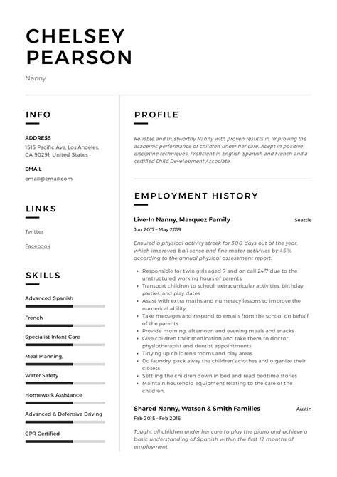 resume sample for licensed mechanical engineer rresume examples nanny resume sample for licensed - Licensed Mechanical Engineer Sample Resume
