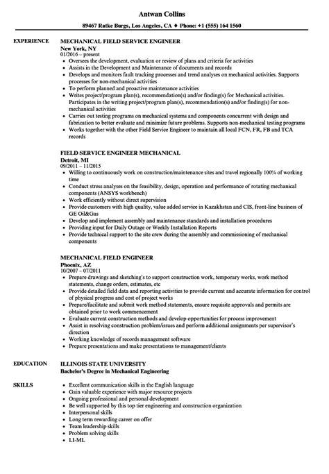 resume sample of mechanical field engineer sample mechanical field engineer resume how to write - Mechanical Field Engineer Sample Resume
