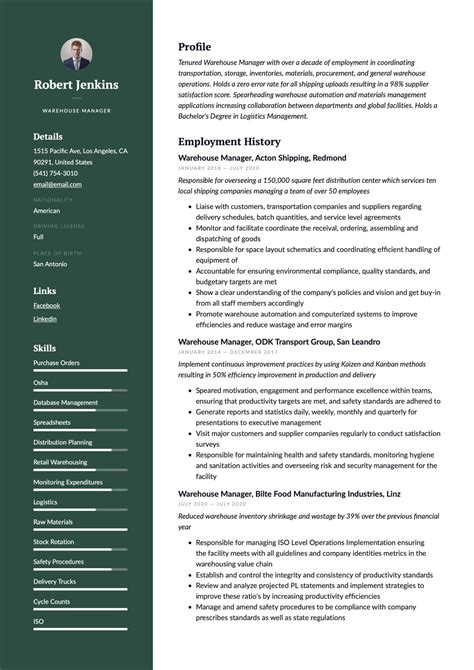 resume sample for warehouse supervisor sample resume warehouse skills list chron - Warehouse Supervisor Sample Resume
