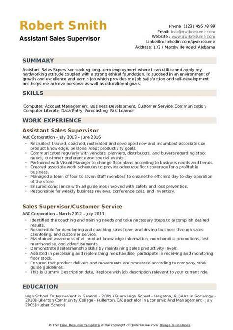 resume sample for retail supervisor supervisor resume template sample dayjob - Retail Supervisor Resume Sample