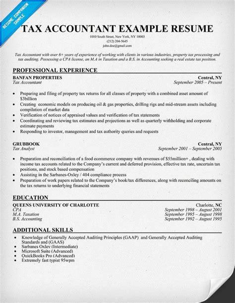 resume sample tax accountant tax accountant resume sample - Tax Accountant Resume Sample