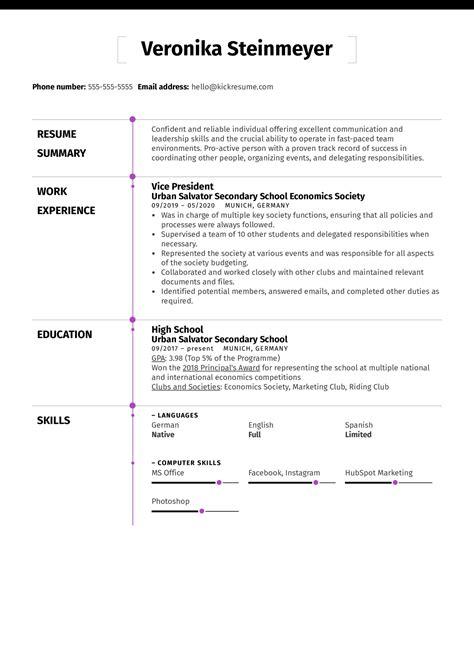 resume sample for teenager teens4hireorgs sample teen resume
