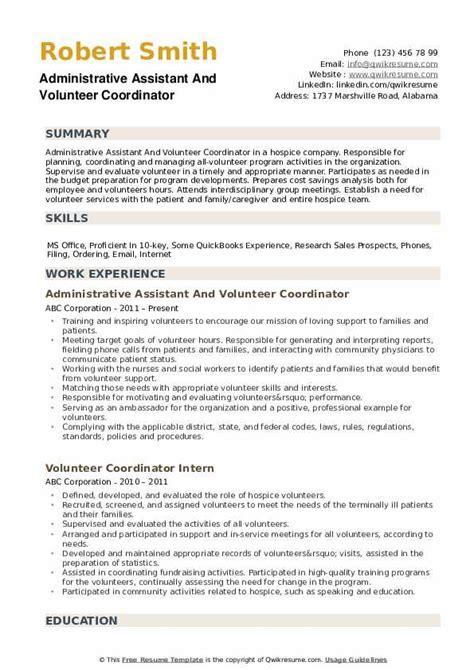 Resume Sample For Volunteer Coordinator | Cover Letter Legal Job Uk