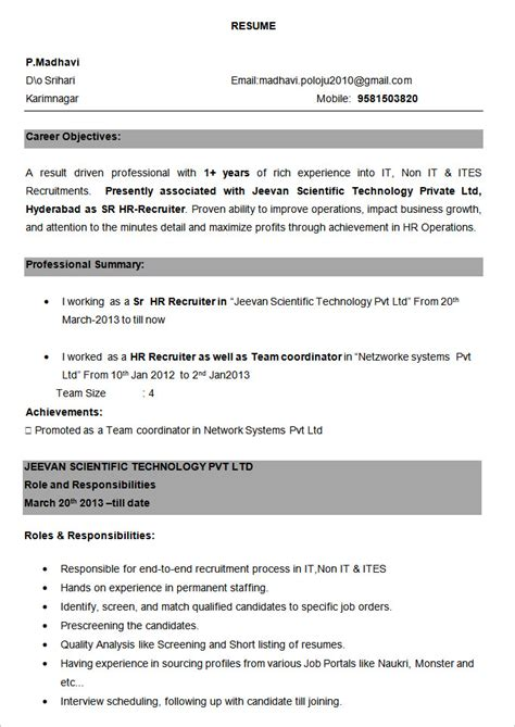 Resume Samples Experienced 6 Experienced Resume Samples Examples Download Now