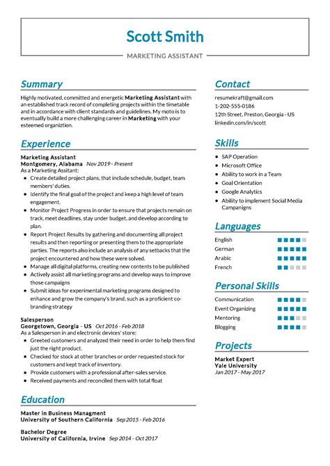 Resume Samples For Recent College Grads Marketing Associate Resume Samples Jobhero