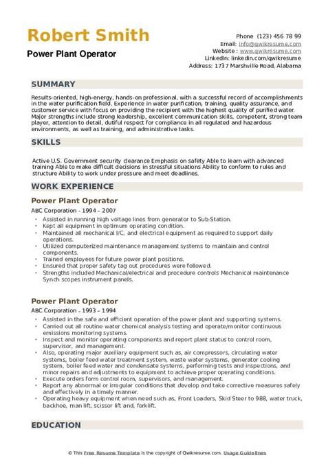 resume samples for power plant engineers power plant location database power plant locations - Power Plant Engineer Sample Resume