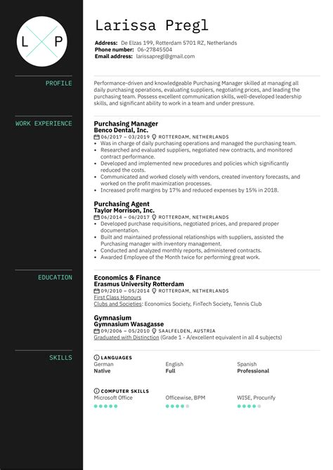 resume samples purchasing manager purchasing manager resume sample resume my career