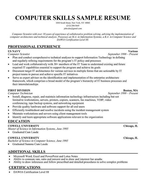 Resume Samples And Templates Free Resume Template 781 Free Samples Examples Format