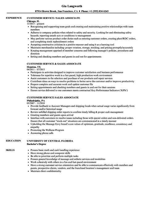 Resume Samples Objective For Customer Service Sales Customer Service Resume Samples Velvet Jobs