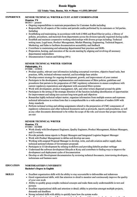 Resume Samples In English Pdf Senior Technical Writer Resume Samples Jobhero