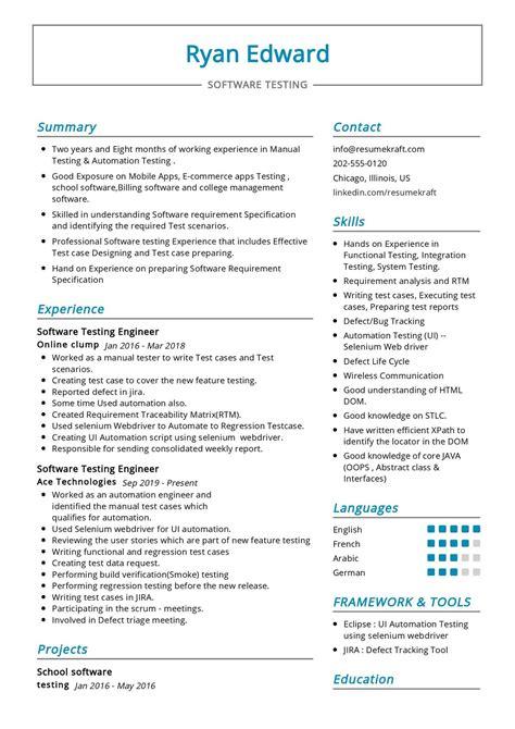 resume samples of software testing testing resume sample mobile testing resume software - Software Testing Resume Samples