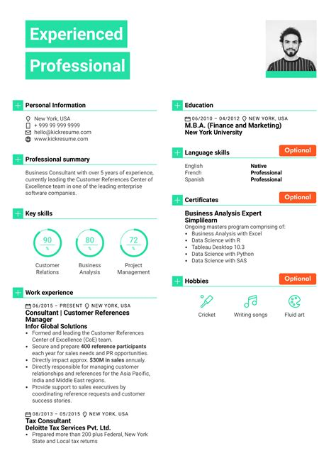 resume sections graduate resume writing