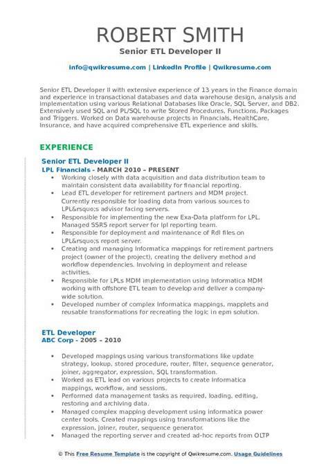 Informatica Resumes] Professional Informatica Developer Templates .