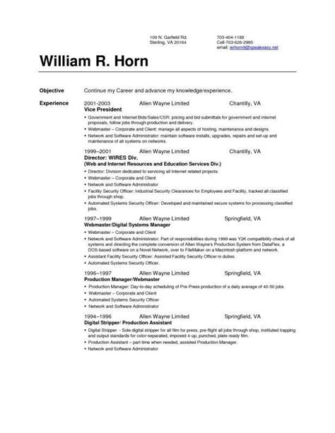 resume setup examples resume examples first resume sample cv youth central