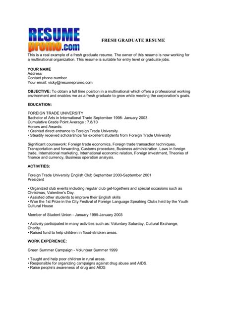 Resume Skills Sample For Fresh Graduate 2 Fresh Graduate Resume Samples Examples Download Now