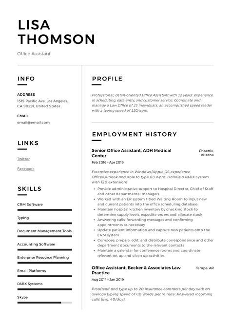 Resume Skills Office Assistant Office Assistant Resume Example Secretary Teachers Aide
