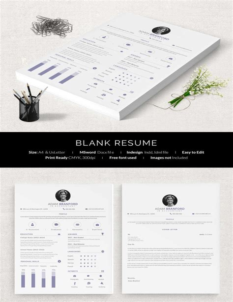 blank resume templates pdf blank cv resume template 5 resume template in pdf format 40 blank