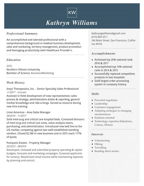 resume for medical representative job sample resume for medical representative