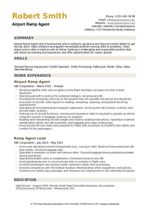 resume template for airline ramp agent ramp agent resume example best sample resume. Resume Example. Resume CV Cover Letter