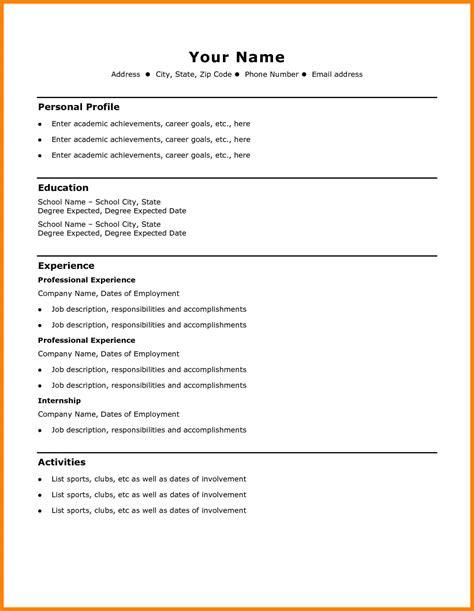resume template free easy simple resume office templates - Free Easy Resume