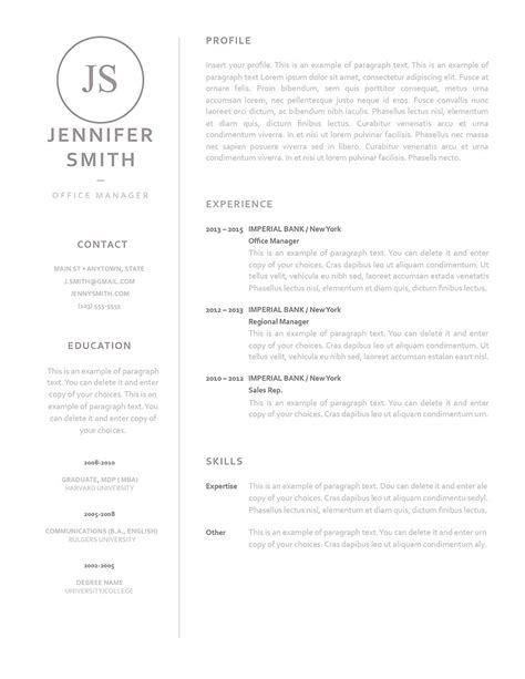 Resume Templates With Professional Summary 20 Resume Templates Download Create Your Uptowork