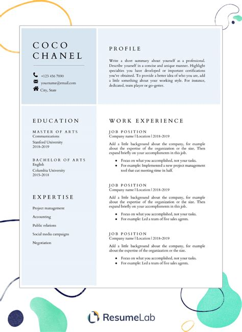 resume templates google docs 24 google docs templates that will make your life easier