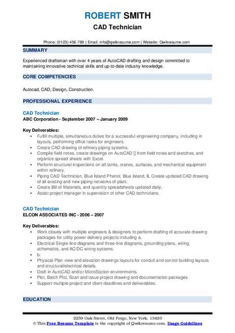 resume templates hvac technician cad technician resume sample cover letters and resume - Hvac Technician Resume Sample