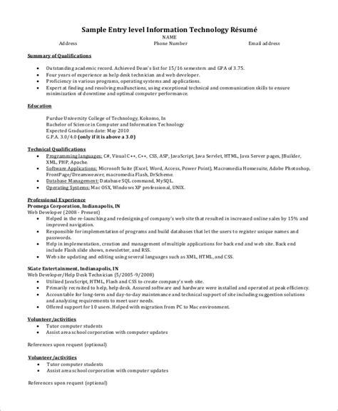 Resume Templates Yahoo Answers Entry Level Resume Templates An Entry Level Resume