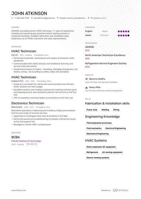 hvac resume template sales resumes samples hvac resume example fancy templates for person ou resume template