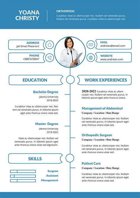 resume template openoffice