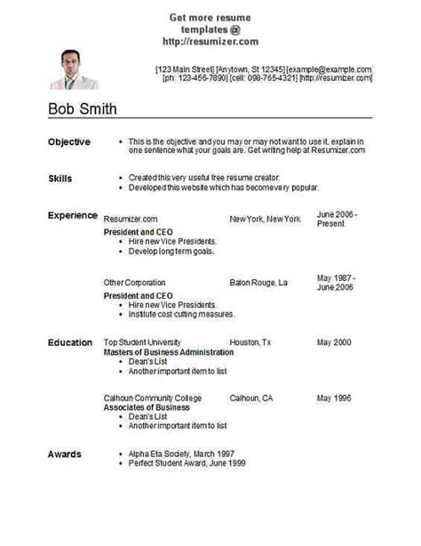resume templates completely free resumizer free resume creator online write and print - Completely Free Resume Creator