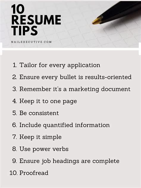 resume tips seek resume tips top resume tips the balance - Tips On A Resume