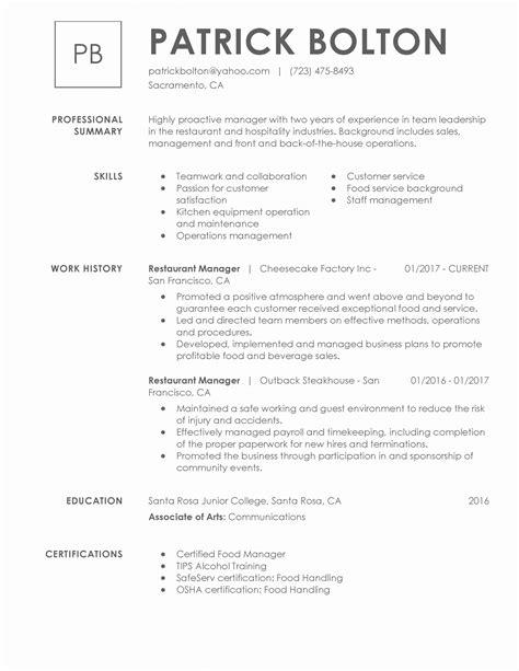 resume title