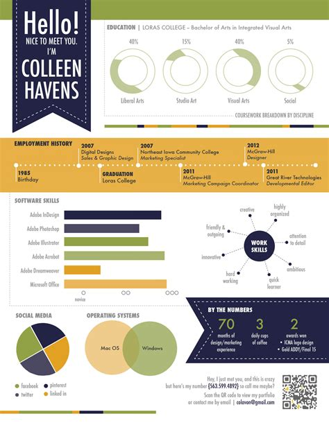 resume visual templates visualinfographic resume examples vizualresume