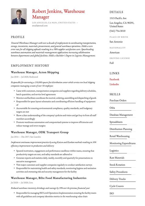 Resume Community Service Cover Letter Resume Warehouse Person Sample Warehouse Worker  Additional Skills To Add To Resume Pdf with Part Time Resume Resume Warehouse Manager Operations Manager Resume Example Sample  Welding Resume Examples Pdf