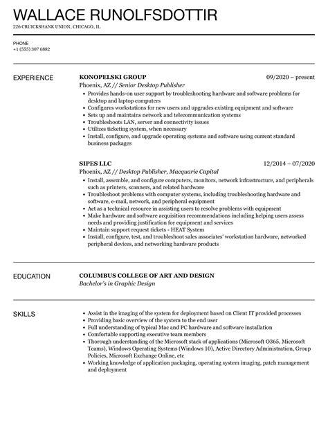 Resume Writer Boca Raton Desktop Publisher Resume Samples Jobhero