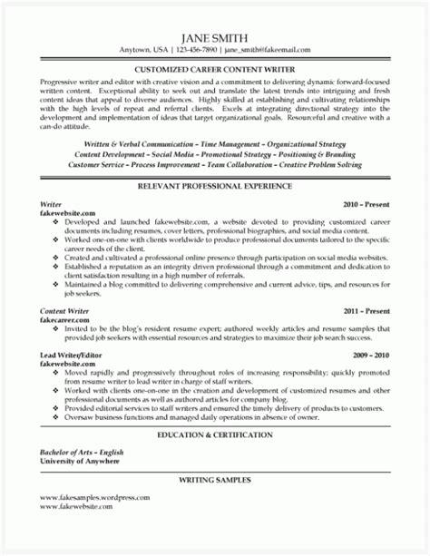 Resume Writer ...